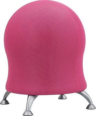 Safco Zenergy Fabric Ball Office Chair, Armless, Pink (4750PI)