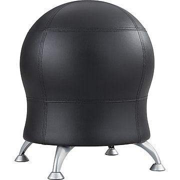 Safco Zenergy Vinyl Ball Chair, Black (4751BV)