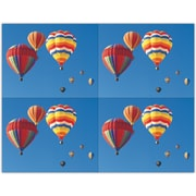 MAP Brand Scenic Laser Postcards Colorful Air Balloons