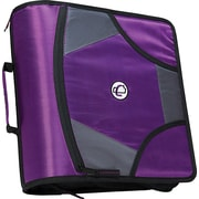 Case-it King-Sized Zip Tab 4-Inch D 3-Ring Zipper Binder, Purple (D-186 PUR)