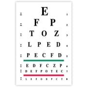 MAP Brand Graphic Image Laser Postcards Eye Chart (Snellen)