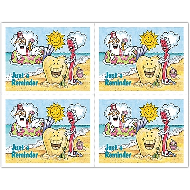 MAP Brand Smile Team Laser Postcards Reminder - Beach Scene