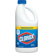Clorox® Bleach, Concentrated, Regular, 64 oz., 8/Ct