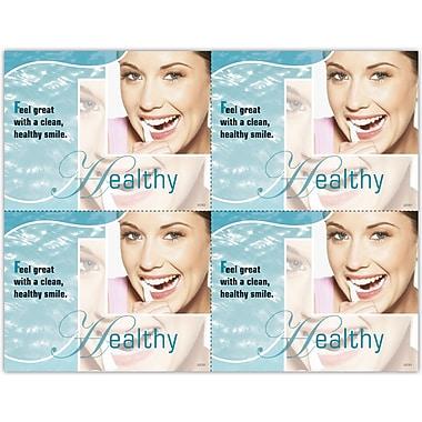 MAP Brand Photo Image Laser Postcards Healthy, Blue
