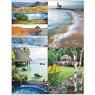 MAP Brand Scenic Assorted Laser Postcards Beach and Flower