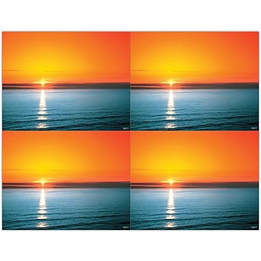 MAP Brand Scenic Laser Postcards Ocean Sunset
