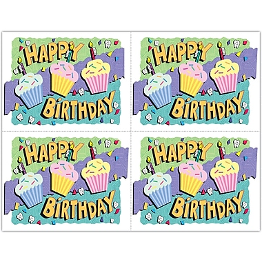 MAP Brand Graphic Image Laser Postcards Cup Cakes - Birthday