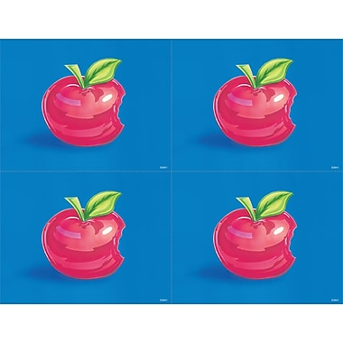 MAP Brand Graphic Image Laser Postcards Large Red Apple