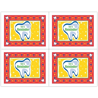 MAP Brand Graphic Image Laser Postcards, Large Tooth