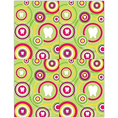 MAP Brand Graphic Image Laser Postcards Tooth in Circles