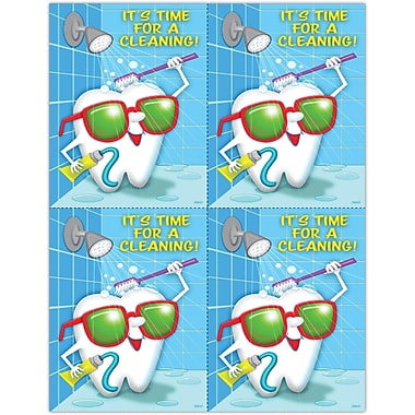 MAP Brand Graphic Image Laser Postcards Toothguy, Time for Cleaning