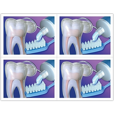 MAP Brand Graphic Image Laser Postcards Tooth/Brush/Mirror