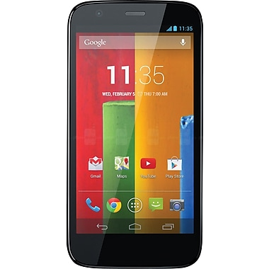 Motorola Refurbished MOTO G Smartphone, 16GB, Unlocked, Black (XT1034)