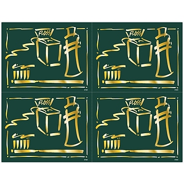 MAP Brand Gentle Dental Laser Postcards Gold Icons Deluxe