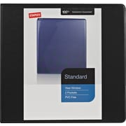 "4"" Staples® Standard View Binder with D-Rings, Black"