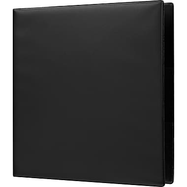 Staples Heavy-Duty 2-Inch D-Ring Non-View Binder, Black (26297)