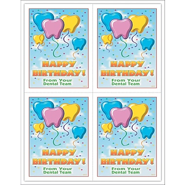 MAP Brand Graphic Image Laser Postcards Tooth Balloons