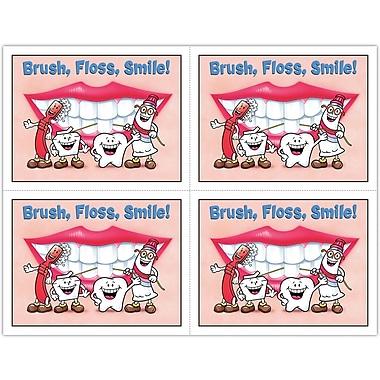 MAP Brand Smile Team Laser Postcards Brush, Floss, Smile
