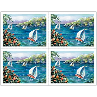 MAP Brand Graphic Image Laser Postcards Sailboats
