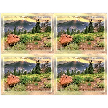 MAP Brand Scenic Laser Postcards Scenic Mountain Sunset