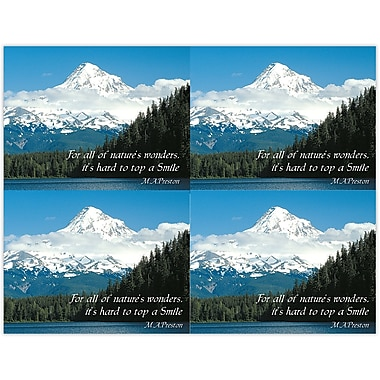 MAP Brand Scenic Deluxe Laser Postcards Mountains