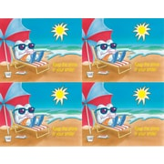 MAP Brand Toothguy Laser Postcards Beach Scene