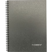 "Cambridge®Steel Fibre Look Executive Notebook, 9-1/2"" x 7-1/4"", 160 pages"