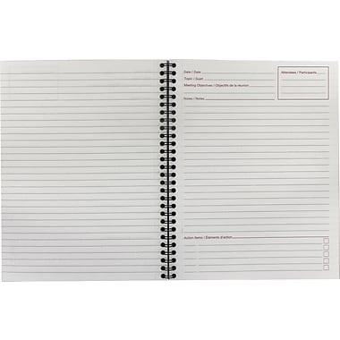 Cambridge®Steel Fibre Look Executive Notebook, 9-1/2