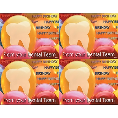 MAP Brand Photo Image Laser Postcards Tooth in Balloon