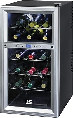 Kalorik 18-Bottle Wine Cooler, Black Silver
