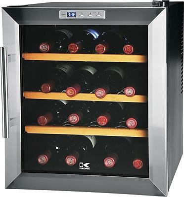 Kalorik 16-Bottle Wine Cooler, Black Silver
