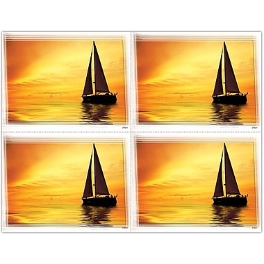 MAP Brand Scenic Laser Postcards Scenic Boat Sunset
