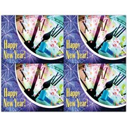 MAP Brand Graphic Image Laser Postcards Holiday Series, New Year