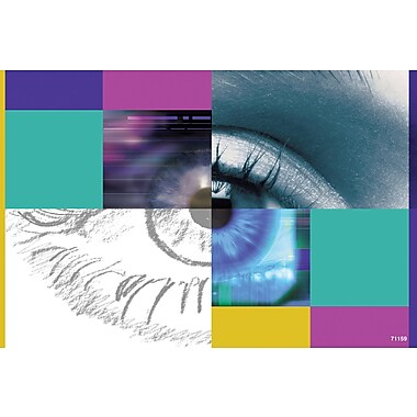 MAP Brand Graphic Image Laser Postcards Window/Large Eye