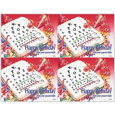MAP Brand Photo Image Laser Postcards Eyechart Birthday Cake
