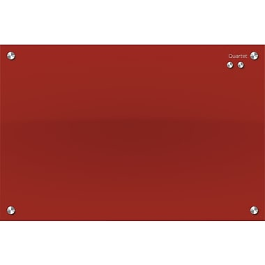 Quartet® Infinitiy™ Magnetic Glass Dry-Erase Board, Red, 36