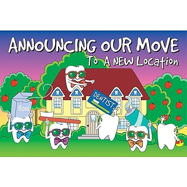 MAP Brand Toothguy Laser Postcards Announcing Our Move