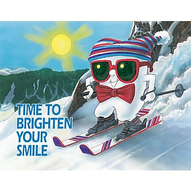 MAP Brand Toothguy Laser Postcards Skiing