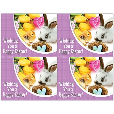 MAP Brand Photo Image Laser Postcards Holiday Series, Easter