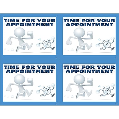 MAP Brand Graphic Image Laser Postcards Clay Guy, Time for Your Appointment