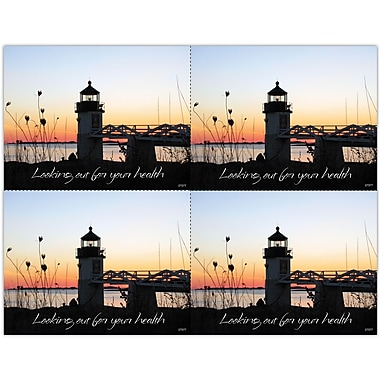 MAP Brand Photo Image Laser Postcards New England Lighthouse