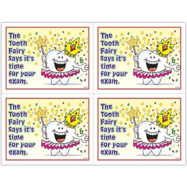 MAP Brand Smile Team Laser Postcards Tooth Fairy