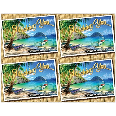 MAP Brand Graphic Image Laser Postcards Wishing You