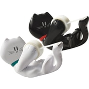 Scotch® Magic™ Tape Dispenser, Kitty Design, Black/White (C39-KITTY)