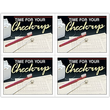 MAP Brand Graphic Image Laser Postcards Time For Check-Up