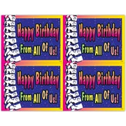 "MAP Brand Graphic Image Laser Postcards Birthday ""From All Of Us"""