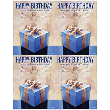 MAP Brand Graphic Image Laser Postcards Physical Therapy, Happy Birthday