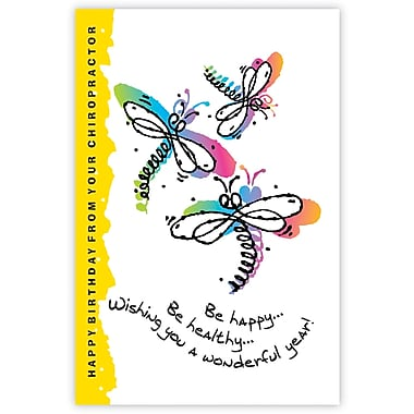 MAP Brand Graphic Image Laser Postcards Be Happy, Be Healthy