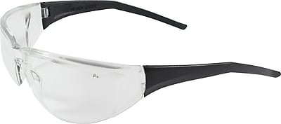 Rimless Safety Glasses with Black Temple, Clear Lens and Anti-Scratch Coating