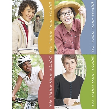 MAP Brand Photo Image Assorted Laser Postcards Womens Health Value Health